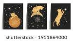 celestial cat animal sacred... | Shutterstock .eps vector #1951864000