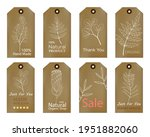 set of vintage tags with hand... | Shutterstock .eps vector #1951882060