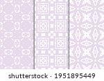 set of seamless patterns.... | Shutterstock .eps vector #1951895449