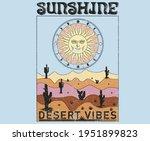 sunshine desert vibes modern...   Shutterstock .eps vector #1951899823
