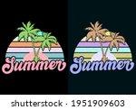 summer beach retro vintage... | Shutterstock .eps vector #1951909603