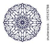 round kaleidoscopic lace... | Shutterstock . vector #195192788