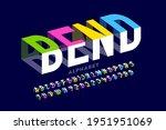 bending 3d style font design ... | Shutterstock .eps vector #1951951069