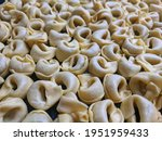 a close up top view shot of raw ... | Shutterstock . vector #1951959433