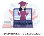 virtual graduation of students... | Shutterstock .eps vector #1951982230