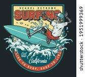 surfing school vintage colorful ... | Shutterstock .eps vector #1951999369
