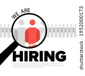 we are hiring minimalistic... | Shutterstock .eps vector #1952000173