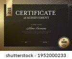 modern certificate of... | Shutterstock .eps vector #1952000233