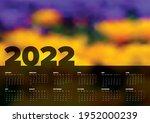 vector dark calendar layout... | Shutterstock .eps vector #1952000239