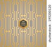 art deco seamless vintage... | Shutterstock .eps vector #195200120