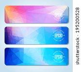 website header or banner set of ... | Shutterstock .eps vector #195200528