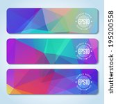 website header or banner set of ... | Shutterstock .eps vector #195200558