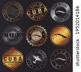 cuba business metal stamps.... | Shutterstock .eps vector #1952014186