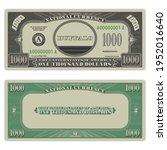 usa fictional paper money....   Shutterstock .eps vector #1952016640