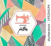 patchwork quilt. seamless... | Shutterstock .eps vector #195204194