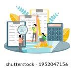 accountants doing balance sheet ...   Shutterstock .eps vector #1952047156