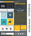 website design template and set ...