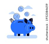 vector picture of funny blue... | Shutterstock .eps vector #1952084659
