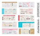 boarding pass ticket of wedding ...   Shutterstock .eps vector #1952095210