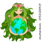 happy mother earth day   ...   Shutterstock .eps vector #1952100919