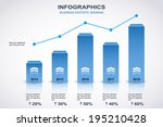 blue and white diagram with...   Shutterstock .eps vector #195210428