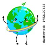 happy earth day   planet earth... | Shutterstock .eps vector #1952107633