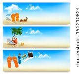 three summer vacation banners.... | Shutterstock . vector #195210824