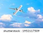 Airplane Gaining Height Among...