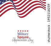military spouse appreciation... | Shutterstock .eps vector #1952118259