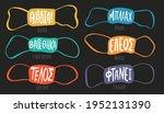 set of masks in different... | Shutterstock .eps vector #1952131390