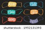 set of masks in different... | Shutterstock .eps vector #1952131393