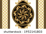 seamless  border with golden... | Shutterstock .eps vector #1952141803