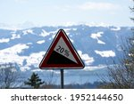 Road Sign Steep Terrain Of 20...