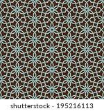 ornamental pattern. arabic... | Shutterstock .eps vector #195216113
