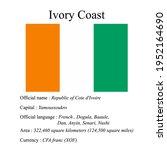 ivory coast national flag ...   Shutterstock .eps vector #1952164690