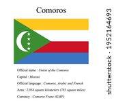 comoros national flag  country...   Shutterstock .eps vector #1952164693