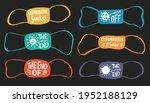 set of masks in different... | Shutterstock .eps vector #1952188129
