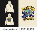 earth shaped like skull...   Shutterstock .eps vector #1952193979