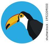 toucan. tropical bird. toucan...   Shutterstock .eps vector #1952209033