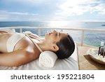 asian woman having massage... | Shutterstock . vector #195221804