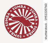 sumba stamp. travel red rubber... | Shutterstock .eps vector #1952220760