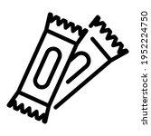 vitamin bar icon. outline... | Shutterstock .eps vector #1952224750