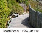 Beautiful Wooden Walkway At...