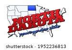 north dakota state. vector... | Shutterstock .eps vector #1952236813