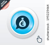 money bag sign icon. euro eur...