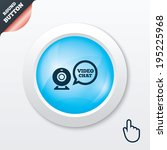 video chat sign icon. webcam...