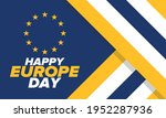 europe day. annual public... | Shutterstock .eps vector #1952287936