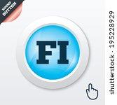 finnish language sign icon. fi...