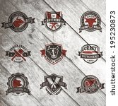 set of vintage labels templates ... | Shutterstock .eps vector #195230873