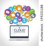 technology design over white... | Shutterstock .eps vector #195231188